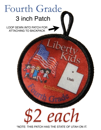 LIBERTY KIDS PATCH FOURTH GRADE