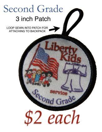 LIBERTY KIDS PATCH SECOND GRADE