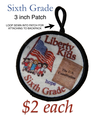 LIBERTY KIDS PATCH SIXTH GRADE