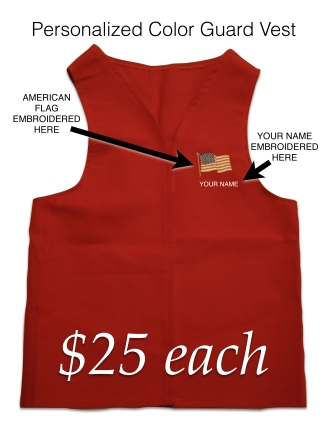 Personalized Color Guard Vests